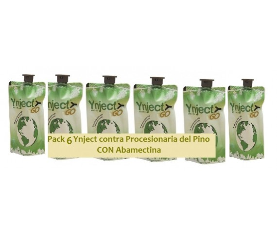Pack 6  Unidades Ynject- Contra Procesionaria del Pino CON ABAMECTINA